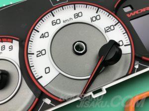 スピードメーター針アップ